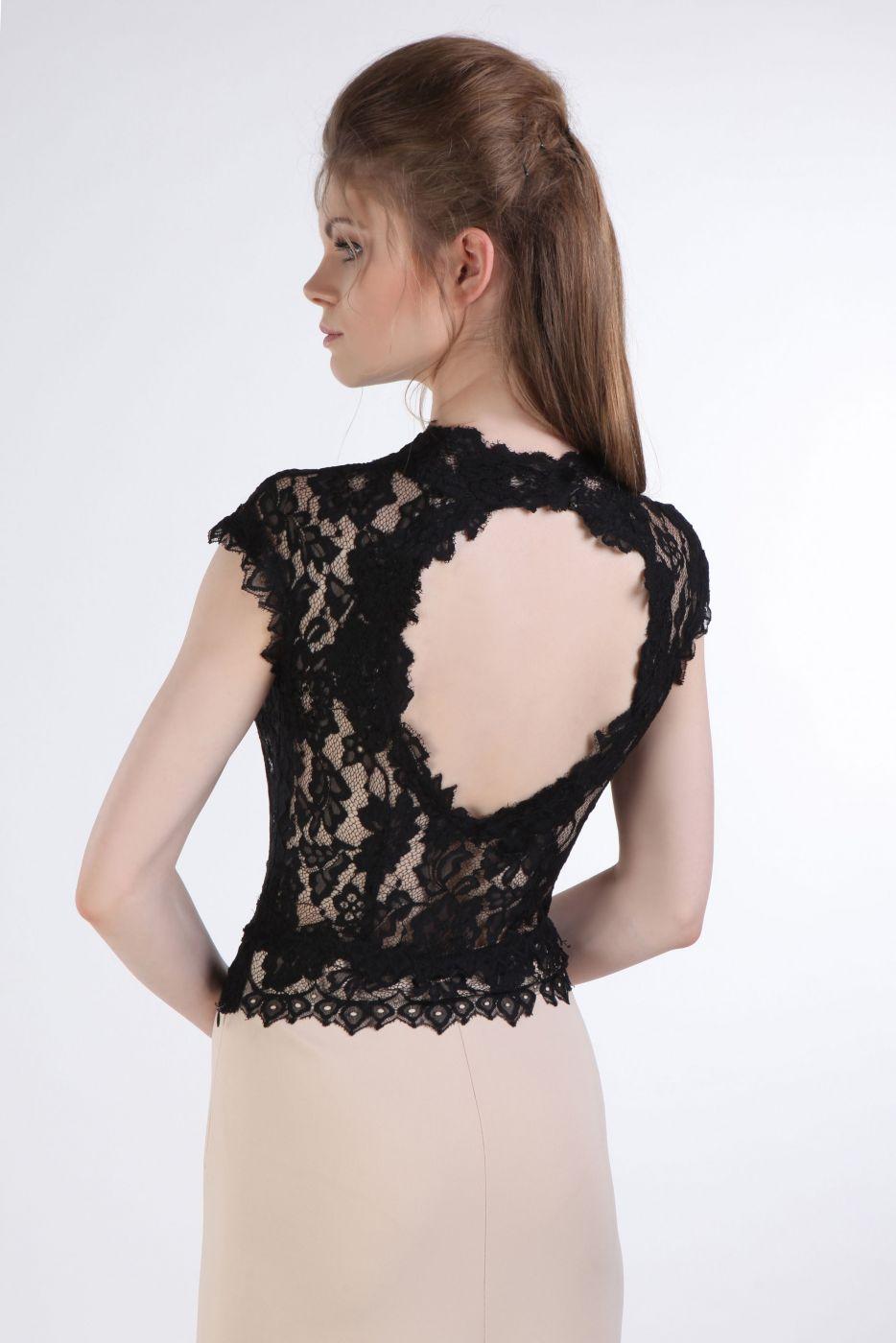 elegantes schmales abendkleid aus satin und spitze