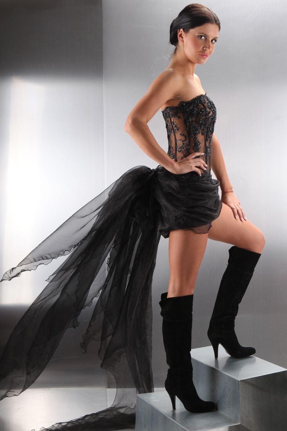 Mini Brautkleid Mit Schleppe Sexy Kleiderfreuden