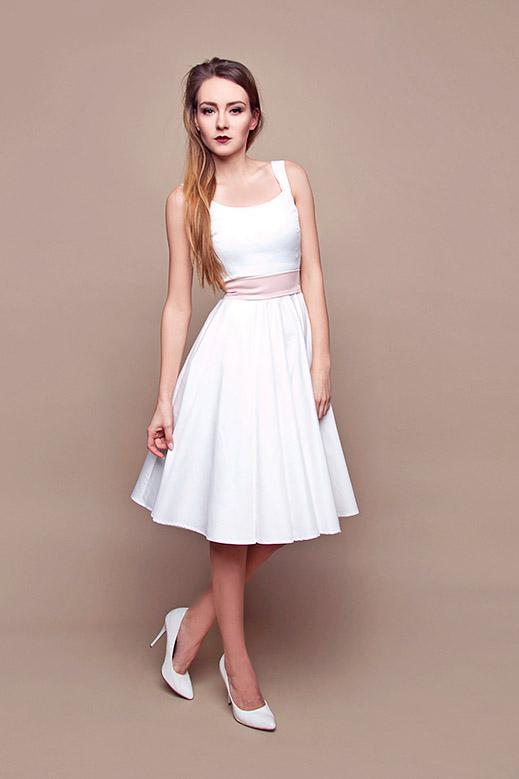 Kurzes Standesamtkleid mit Trägern Kleiderfreuden