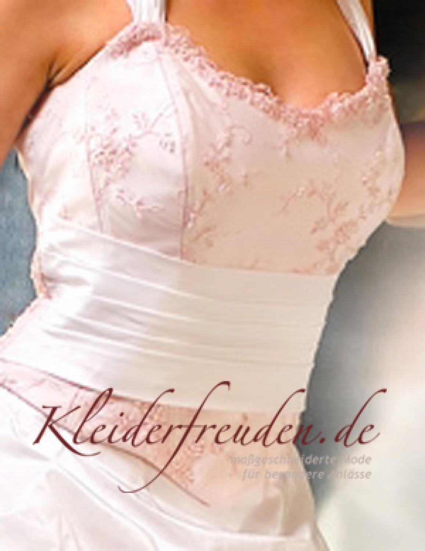 Romantisches Brautkleid in rosa und creme - Kleiderfreuden