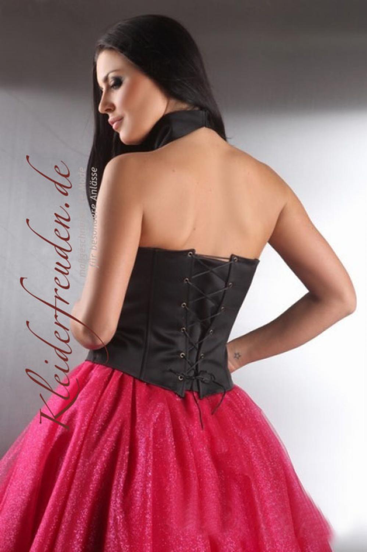 knielanges abiballkleid artemia neckholder und glitzer t llrock pink und schwarz kleiderfreuden. Black Bedroom Furniture Sets. Home Design Ideas
