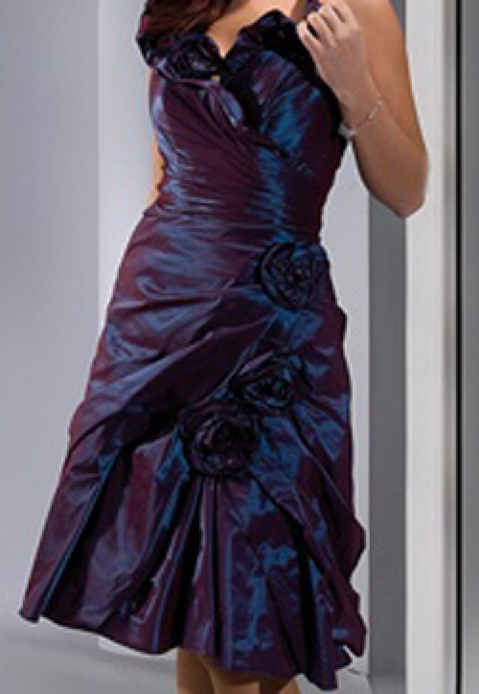 Drapiertes Konfirmationskleid Megara Blau Lila Mit Kragen Gunstige Cocktailkleider Kleiderfreuden