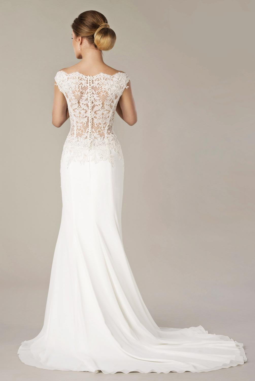 Hochzeitskleid mit spitze am rucken