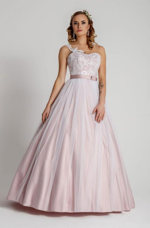 Farbige Brautmode Brautkleid in altrosa nach Maß - Kleiderfreuden