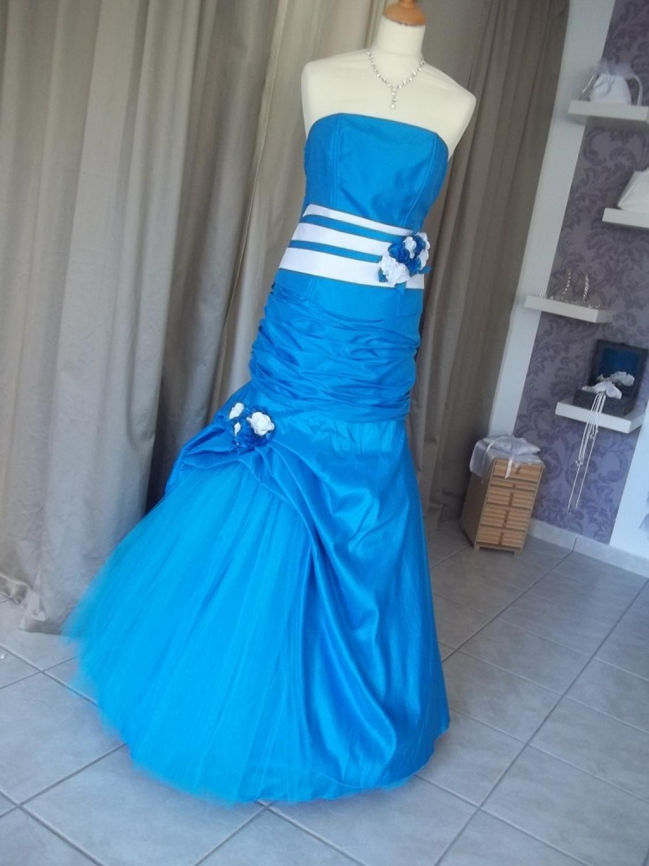 ballkleid abendkleid blau kleiderfreuden. Black Bedroom Furniture Sets. Home Design Ideas