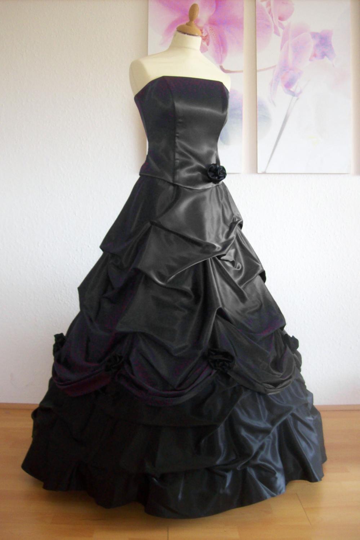 ballkleid brautkleid in schwarz kleiderfreuden. Black Bedroom Furniture Sets. Home Design Ideas