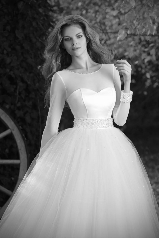 Prinzessinnen Brautkleid blau weiß - Kleiderfreuden