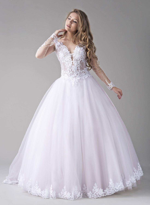 Brautkleid rosa weiß mit Tüll - Kleiderfreuden
