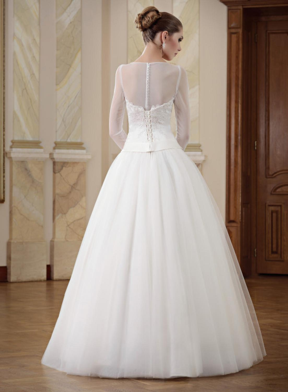 A-Linien Brautkleid mit langen Ärmeln und Bolero ...
