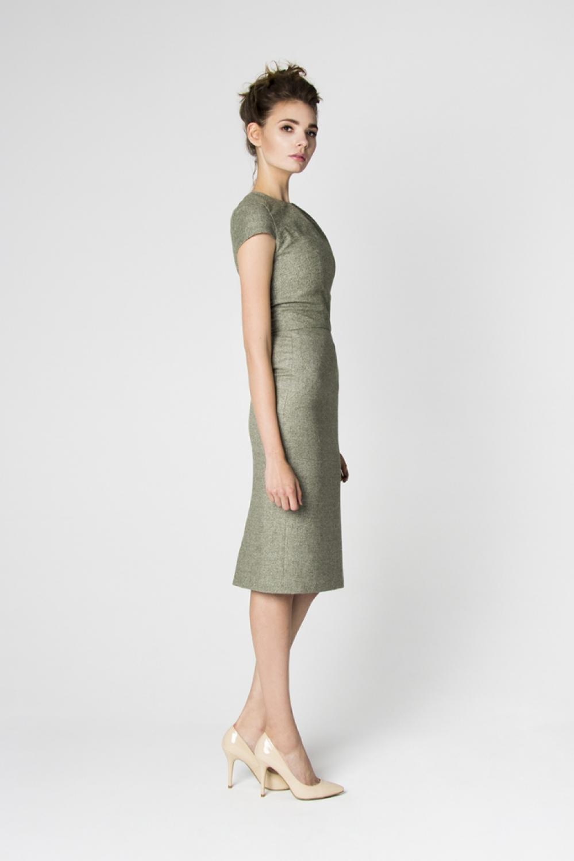 Kleid standesamt grun