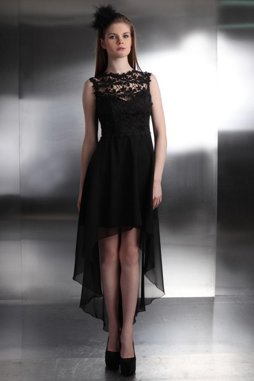 Abschlussballkleid schwarz spitze kleiderfreuden for Kleider vorne kurz hinten lang zalando
