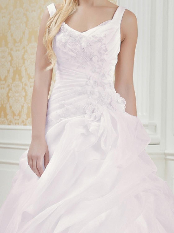 Maßgeschneidertes Hochzeitskleid rosa mit Trägern - Kleiderfreuden