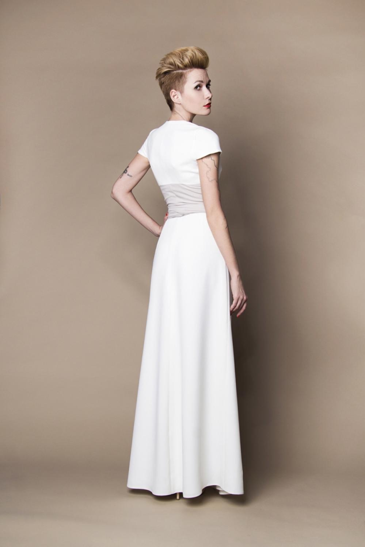Modernes langes Brautkleid - Kleiderfreuden