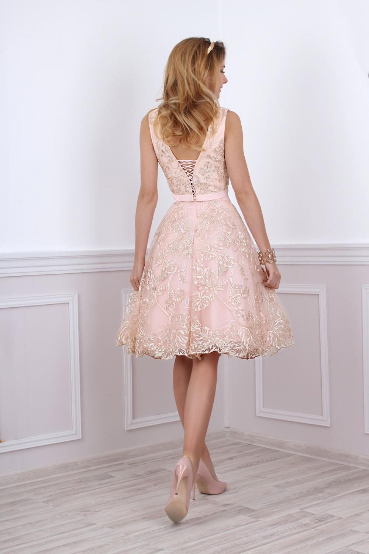 Kleid für standesamtliche Trauung in rosa gold - Kleiderfreuden