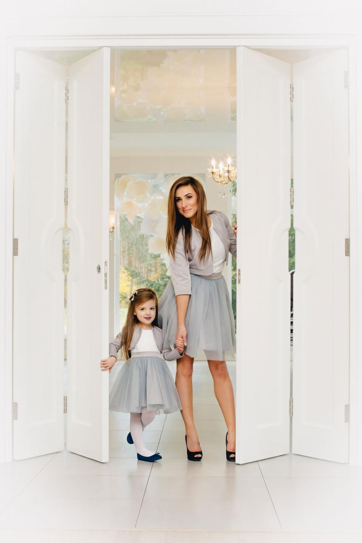 mutter tochter kleid festlich mit t llrock grau oder anderen farben kleiderfreuden. Black Bedroom Furniture Sets. Home Design Ideas