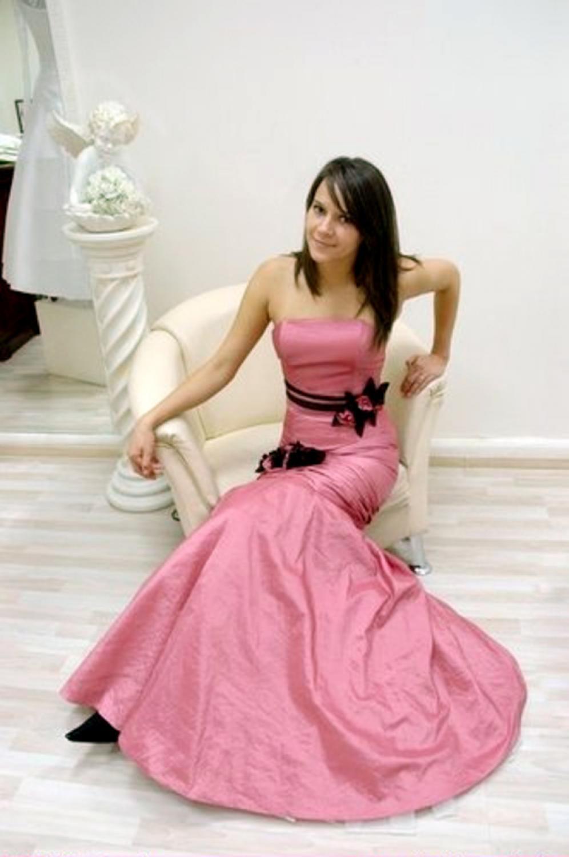 rosanes godet abendkleid aus taft - kleiderfreuden