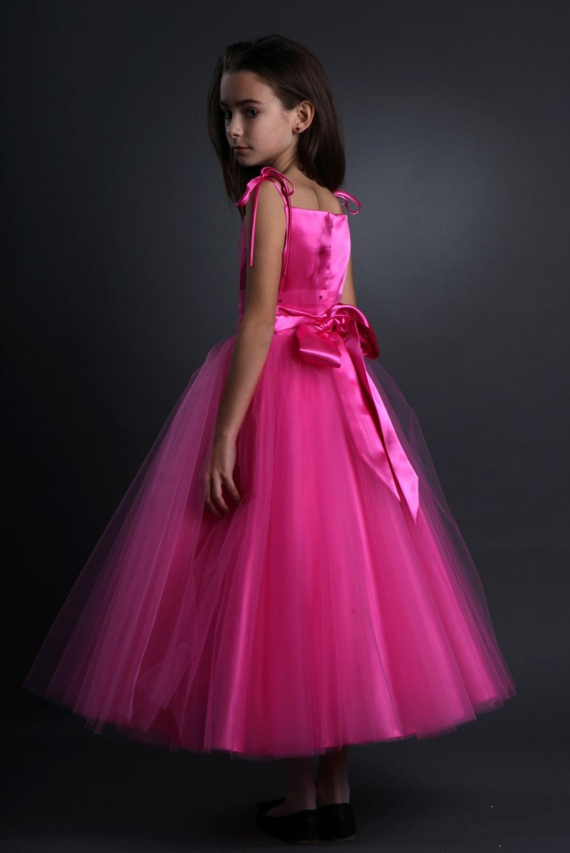 Blumenmädchenkleid festliches Kleid Mädchen aus Glitzertüll