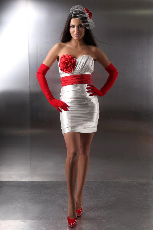 Kurzes Standesamtkleid weiß und rot Seite 15 - Kleiderfreuden