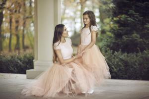 vollständig in den Spezifikationen ganz nett akribische Färbeprozesse Mutter und Tochter Kleider für festliche Anlässe ...